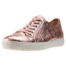 Caprice Heaven Metallic Womens Pink Leather Casual Shoes Lace-up New Style