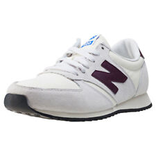 New Balance U420 Mens White Suede & Textile Casual Trainers Lace-up New Style