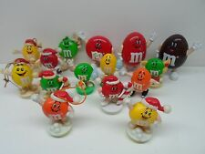 M&M's Figurines Figures 1991 Dispensers & 1989 Christmas Ornaments Used [Choice]