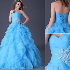 Organza Formal Evening Wedding Dress Cocktail Ball Gown Prom Bridesmaid Dresses