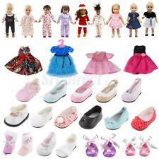 Clothes For 18'' American Girl Doll Shoes Party Dress Skirt Pajamas Accessory