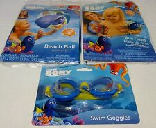 New Disney Pixar Finding Dory & Nemo kids Arm Floats, Beach Ball & Goggles