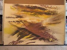 """ALBERT CHRIST JANER abstract PRINT  Brown hand signed # 92/100 33x23"""""""