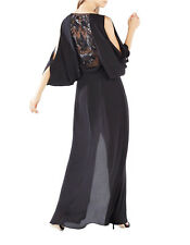 NWT BCBG MAXAZRIA RAYAH SEQUIN-EMBROIDERED DRAPED-BACK GOWN DRESS