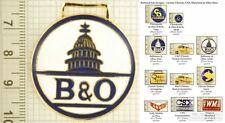 Ohio & Chessie railroad decorative fobs, various designs & keychain options