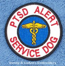 PTSD ALERT SERVICE DOG PATCH 3 INCH ROUND Danny & LuAnns Embroidery