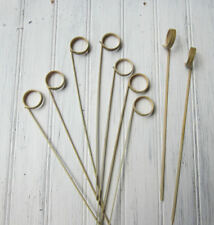 50 Bamboo Skewers, 7 inch Fruit Skewers, Card Holder, Cupcake Toppers