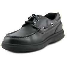 Hush Puppies Henry Lace Up Boat Shoes Men  Moc Toe Leather  Boat Shoe NWOB