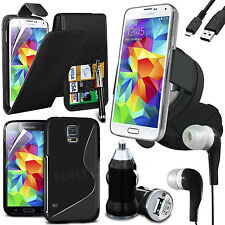 8 in 1 Bundle Kit Accessory Case Car Holder Charger For Samsung Galaxy S5