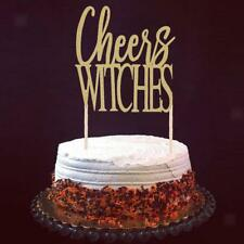 20pcs Glitter Halloween Cheers Witches Cake Toppers Party Cake Decoration