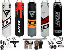 RDX Punching Bag 13 Piece Boxing Set 4FT 5FT Unfilled Heavy Gloves MMA Chains US
