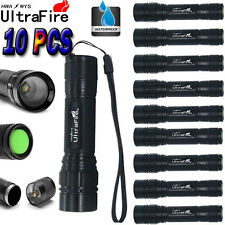 10PCS 15000LM 3Mode XML T6 LED 18650 Zoomable Flashlight Torch Lamp Light D