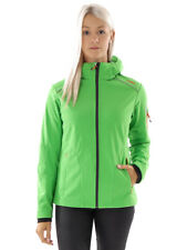 CMP Softshell Functional Jacket ZIPHOODIE Light Green Windproof Stretch
