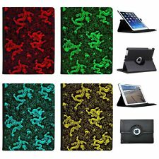 Chinese Dragons Folio Cover Leather Case For Apple iPad