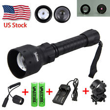 OSRAM Infrared IR 850nm LED Light Night Vision Torch 18650+Pressure Switch+Mount