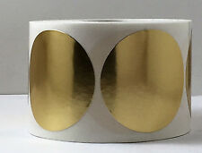 """3,000 2"""" Round Gold Silver Foil Seals Labels Notary Award Certs.Seal Emboss Best"""