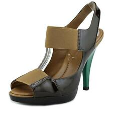 BCBG Max Azria Ivanka 2 Women  Open-Toe Patent Leather Brown Heels