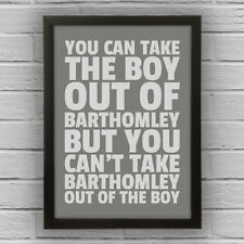 BARTHOMLEY - BOY/GIRL FRAMED WORD TEXT ART PICTURE POSTER Cheshire