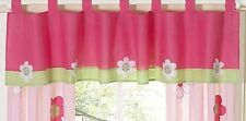 Pink Green Flower Bedding Sets Window Valance Curtain Nursery Sweet Jojo Designs