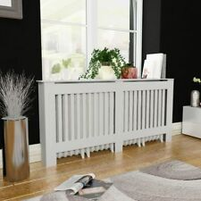 White MDF Heating Radiator Cover Cabinet 112/152/172 cm Home Office Decor