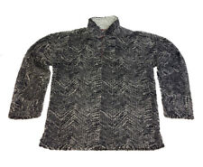 True Grit Mens Tribal Cord Frosty Tipped Quarter Zip Pullover