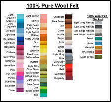 PURE WOOL FELT, WOOL FELT, CHEMICAL FREE 1 square choose your own colour