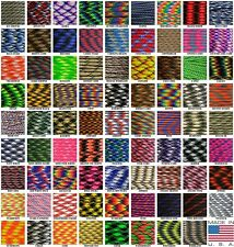 550 Paracord Parachute Cord Mil Spec Camo and Patterns 100ft Hanks USA Made