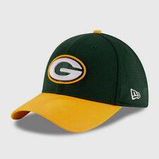 GREEN BAY PACKERS NEW ERA 39THIRTY OFFICIAL SIDELINE TEAM COLORS FLEX HAT NWT
