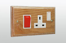 Varilight 45A Cooker Panel with 13A Double Pole Switched Plug Socket Outlet (Red