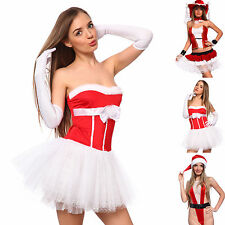 Christmas Miss Santa Claus Women Ladies Fancy Dress Xmas Sexy Costume Dress Up