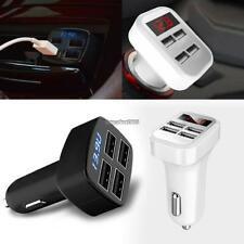 Portable 4 USB Chargers DC12V to 5V Car Chargers For IPhone 7 6S/ Galaxy ED
