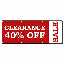 Clearance 40% Off Sale Custom Advertisement Vinyl Banner Sign With Grommets