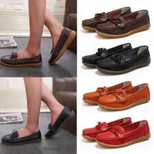 Women Ladies Shallow Mouth Boat Shoes Casual Flat Ballet Slip On Loafers Pumps