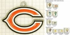 NFL team logo decorative fobs (NFC North), various designs & keychain options