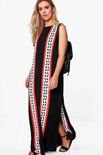 Boohoo Womens Plus Size Anne Split Front Column Maxi Dress