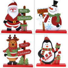 Cute Santa Claus Snowman Christmas Xmas Decor Living Room Table Ornament Decor