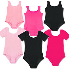 Kids Girls Sleeveless Ballet Training Dance Gymnastics Gym Leotards Bodysuit