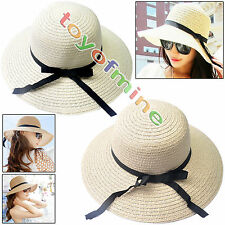 Fashionable Women's Brim Summer Beach Sun Hat Straw floppy Elegant Bohemia cap A