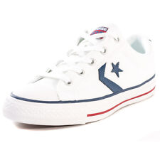Converse Star Player Ox Unisex White Canvas Casual Trainers Lace-up New Style