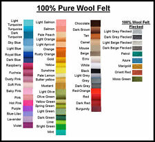 PURE WOOL FELT, ECO Friendly, WALDORF STEINER 1 square choose your own colour