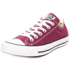 Converse Chuck Taylor Allstar Ox Womens Trainers Maroon New Shoes