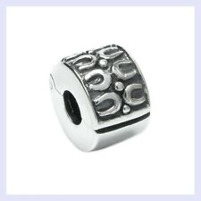 Sterling Silver Round Ethnic Flower Clip Clasp Bead for European Charm Bracelet