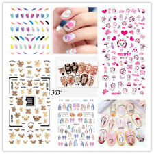 Nail Art Water Decals Wraps Transfers 3D Flowers Gel Polish UV Tips Decoration