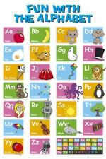 New Learn the Alphabet Educational Letter Fun Poster