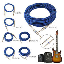 65ft 6.35mm Male To Male Audio Cable For Electric Guitar Mixer Stereo Cable LOT