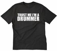 Trust Me, I'm A Drummer T-shirt Funny Music Musician Drums Band Tee Shirt S-5XL