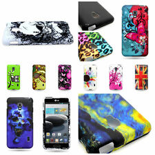 For LG Optimus F6 Multicolor Hard Plastic Front Back Snap On Phone Cover Shell