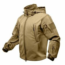 Rothco Special Ops Tactical Soft Shell Jacket Waterproof Coyote Brown #9867