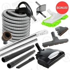 Super Deluxe Central Vacuum Built-in Electric Power Head 30' Hose Vac KIT