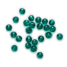 50 Piece Peacock Green Crystal Glass Beads 96 Cut Faceted Jewelry Making 6-10mm
